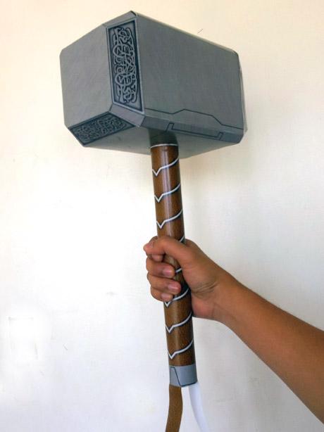 Avengers Mjolnir Papercraft ~ Behold the Geek!