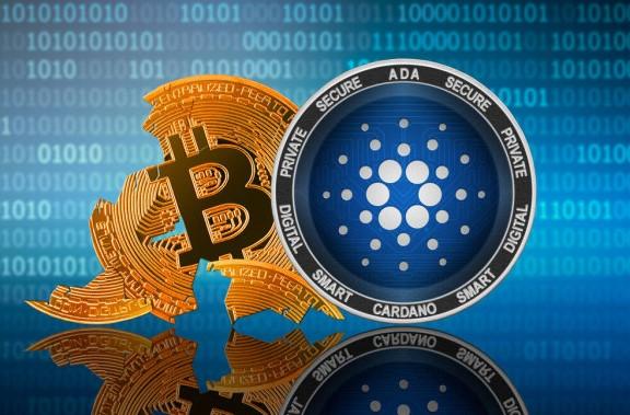 llustrasi Koin Cardano (ADA) Menggeser Dominasi Bitcoin