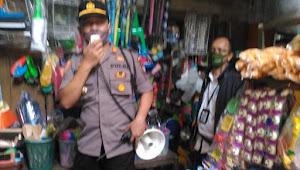 Kapolsek Malangbong Pimpin Sosialisasi AKB Di Pasar Lewo