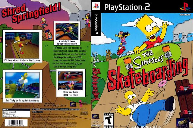 Descargar The Simpsons - Skateboarding ps2 iso NTSC-PAL: Es un videojuego de PlayStation 2 basado en la serie televisiva Los Simpson publicado en 2002,Este juego es similar al juego de Activision Tony Hawk (saga) .