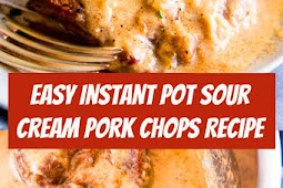 Instant Pot Sour Cream Pork Chops Recipe #pork #porkchops #instantpot #dinner #dinnerideas