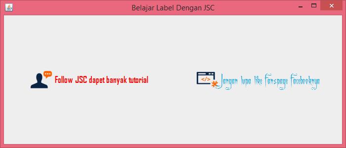 Gambar 6 - jLabel Pada Komponen Swing Di Java