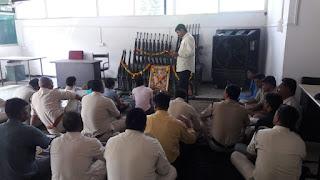 धरमपुरी पुलिस ने विजयादशमी पर किया शस्त्र पुजन