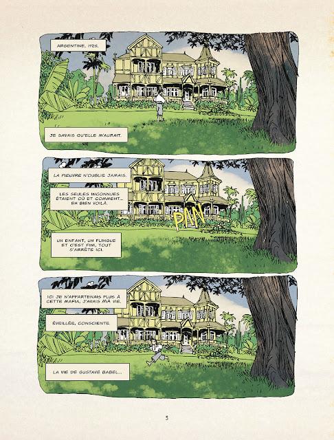 page extraite de La Malédiction de Gustave Babel de Gess chez Delcourt