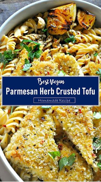 Best Vegan Parmesan Herb Crusted Tofu