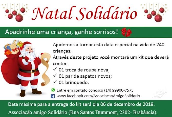 """Campanha """"NATAL SOLIDÁRIO, Apadrinhe uma criança"""""""