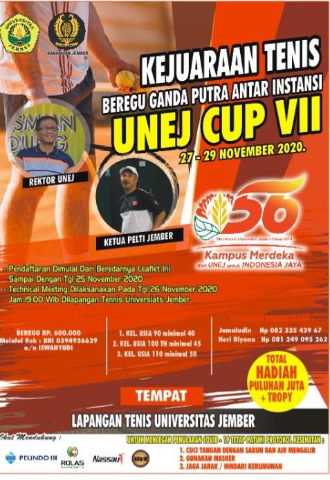 Kejuaraan Tenis Beregu Ganda Putra Antar Instansi UNEJ CUP VII