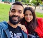ajinkya rahane with her wife