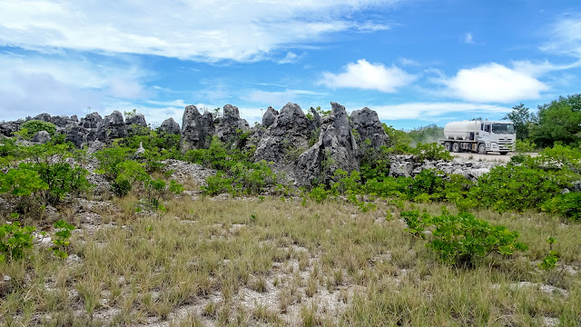 Huge parts of Nauru are only for mining