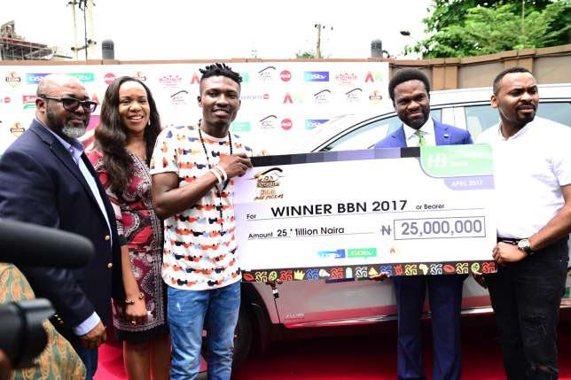 Big Brother Naija winner Efe gives 100k to old friend