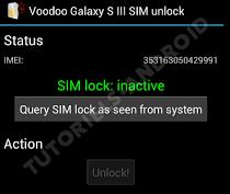 GALAXY S3 : SIM Lock > Inactive