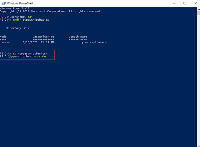 Typescript download and installation tutorial for Windows 10