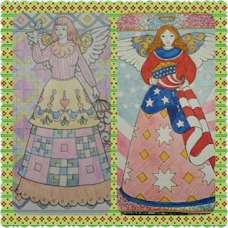 jim shore angel coloring book colored samples