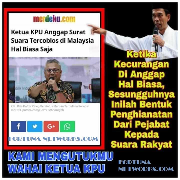 """#INAelectionObserverSOS; Ketua KPU Arief Budiman """"Kecurangan Pemilu Dianggap Hal Biasa-Biasa Saja"""""""