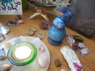 Triple Moon Goddess Spirit Doll a Gourd and Clay Sculpture