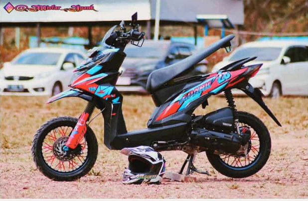 modif matic beat street extrem supermoto