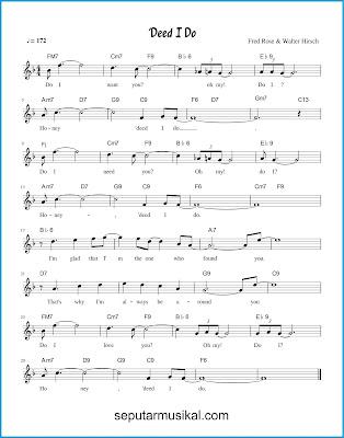 'Deed I Do chord jazz standar