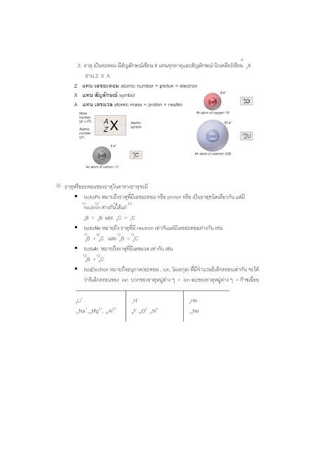 สรุปวิชาเคมี 9 วิชาสามัญและโอเน็ต