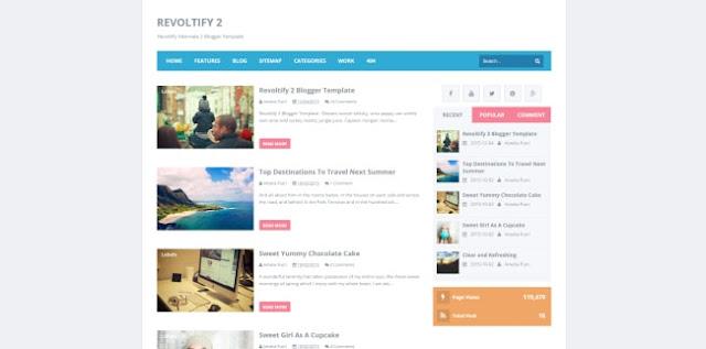revoltify 2 blogger template