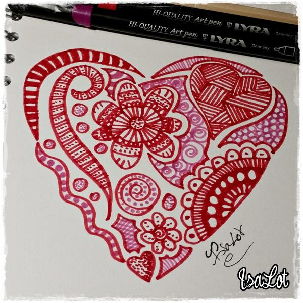 IsaLot Scrapbooking Cmo dibujar mandalas con forma de corazn para