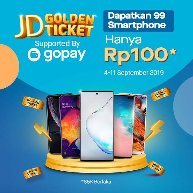 #JDID - #Promo 99 Smartphone Hanya Rp.100 pakai GOPAY (s.d 11 Sept 2019)