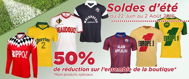 Le site Football Vintage met la plupart de ses maillots à -50%