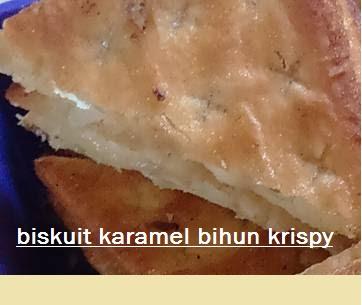 Cara membuat  kue lebaran  biskuit karamel bihun krispy