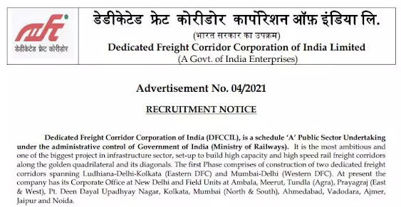 DFCCIL - 1074 Vacancy For  ITI, Graduate, Diploma and Degree Holder