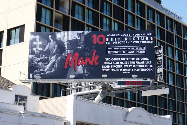 Mank Academy Award nominee billboard