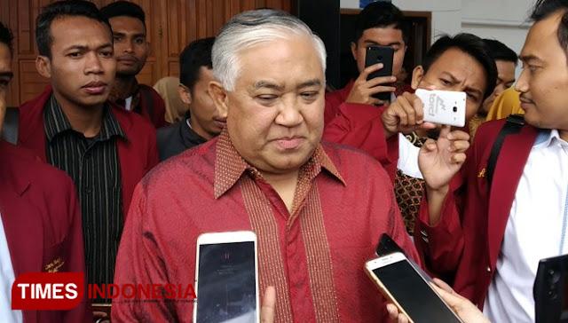 Din Syamsuddin Jadi Ketua Timses Jokowi-Ma'ruf, Hasto Bilang Begini