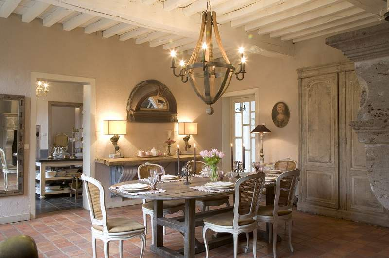 EV DEKORASYON HOBİ: Fransız yemek odası dekorasyonu