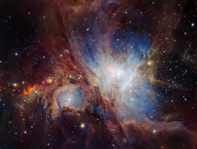 Cái nhìn sâu thẳm nhất vào Tinh vân Orion qua thiết bị HAWK-I của kính VLT. Credit: ESO/H. Drass et al..
