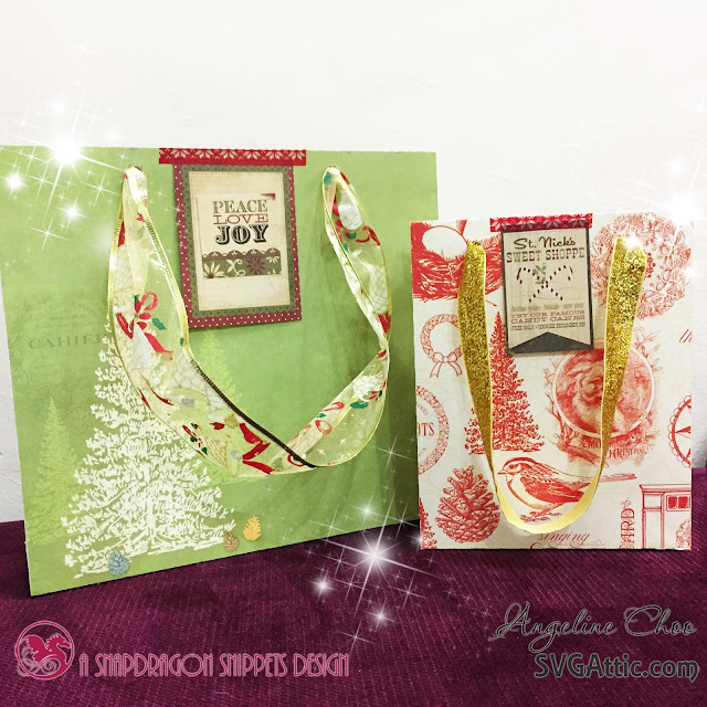 ScrappyScrappy: Christmas Gift Bags with Angeline #svgattic #scrappyscrappy #christmas #fatherchristmas #holiday #giftbag