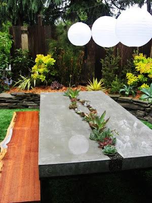 Decoração de suculentas em mesas