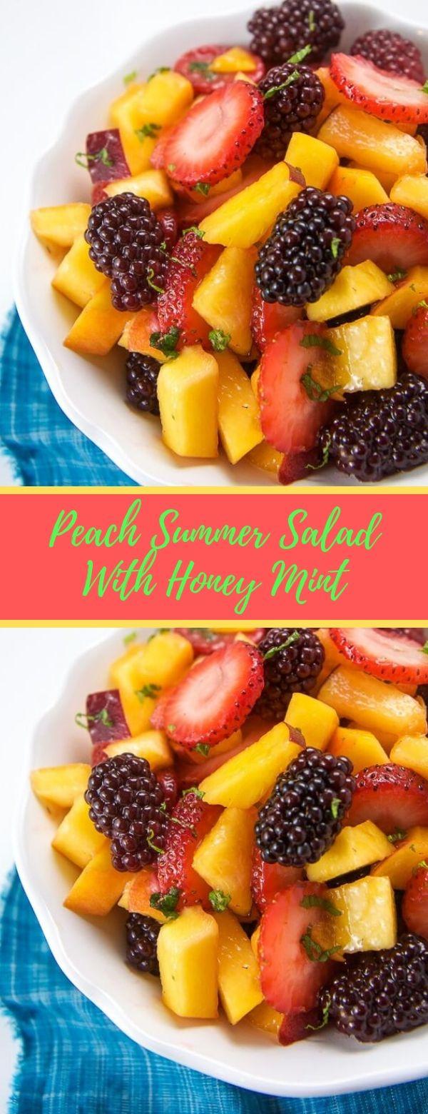 Peach Summer Salad With Honey Mint