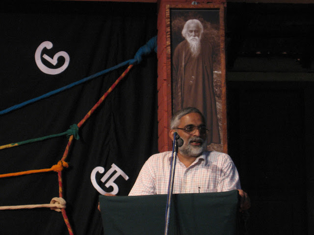 K V Akshara speaking at Ninasam, Heggodu