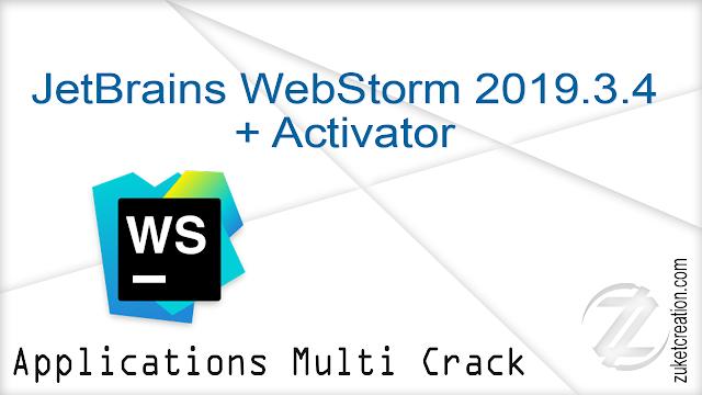 JetBrains WebStorm 2019.3.4 + Activator