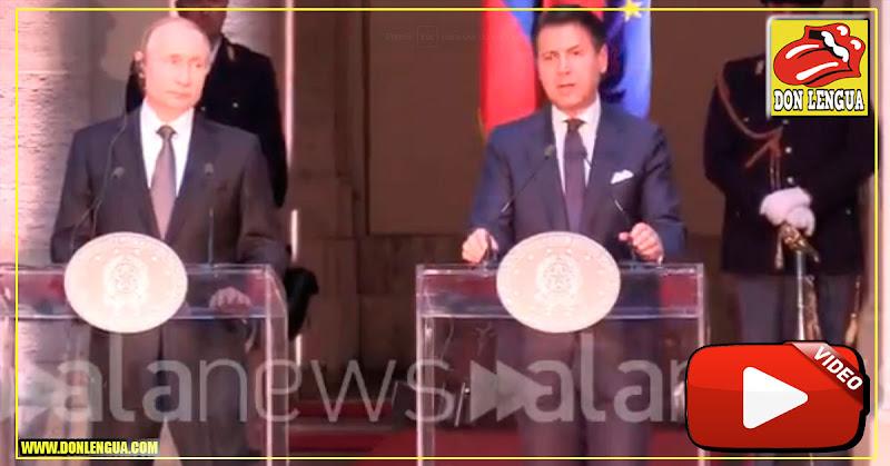 Primer Ministro de Italia desconoció a Maduro frente a Putín