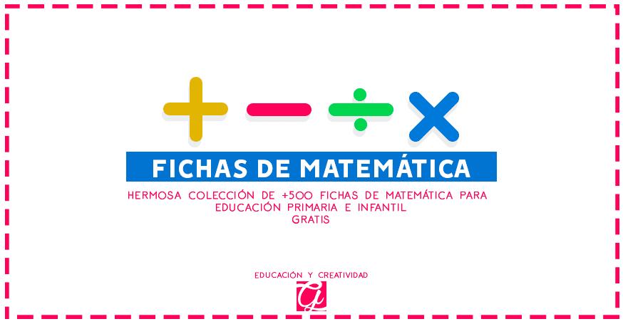 fichas de matemática para educación primaria gratis
