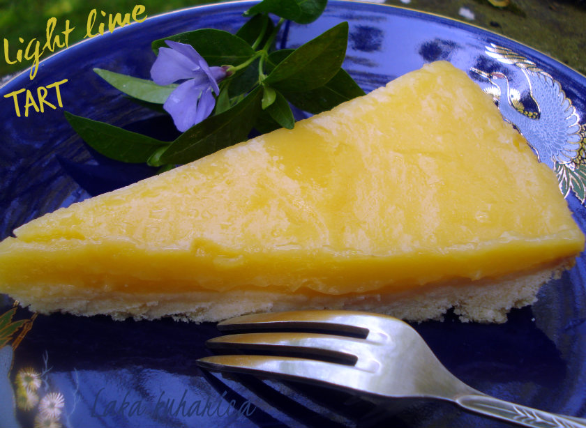 Light lime tart by Laka kuharica: refreshing, light and velvety.