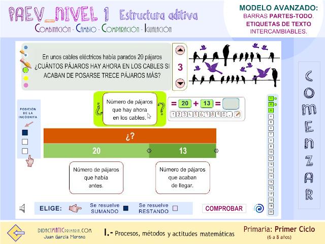 PAEV-nivel 1. Estructura aditiva. Modelo avanzado.