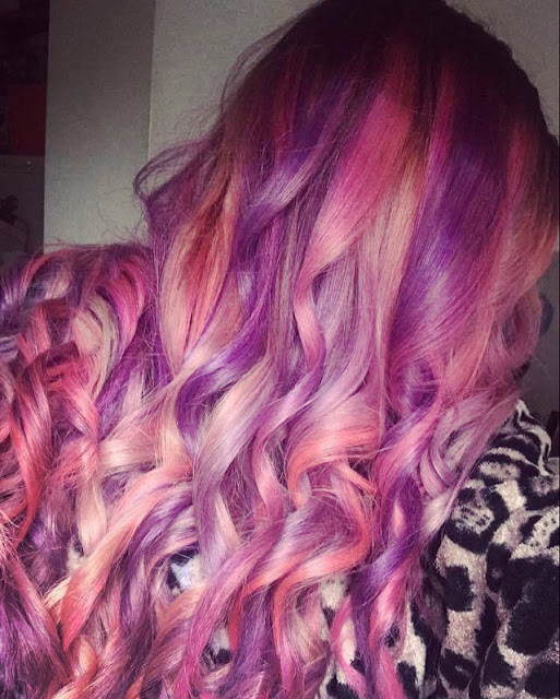 The Girl (daughter2) with mermaid hair, pink and purple edition