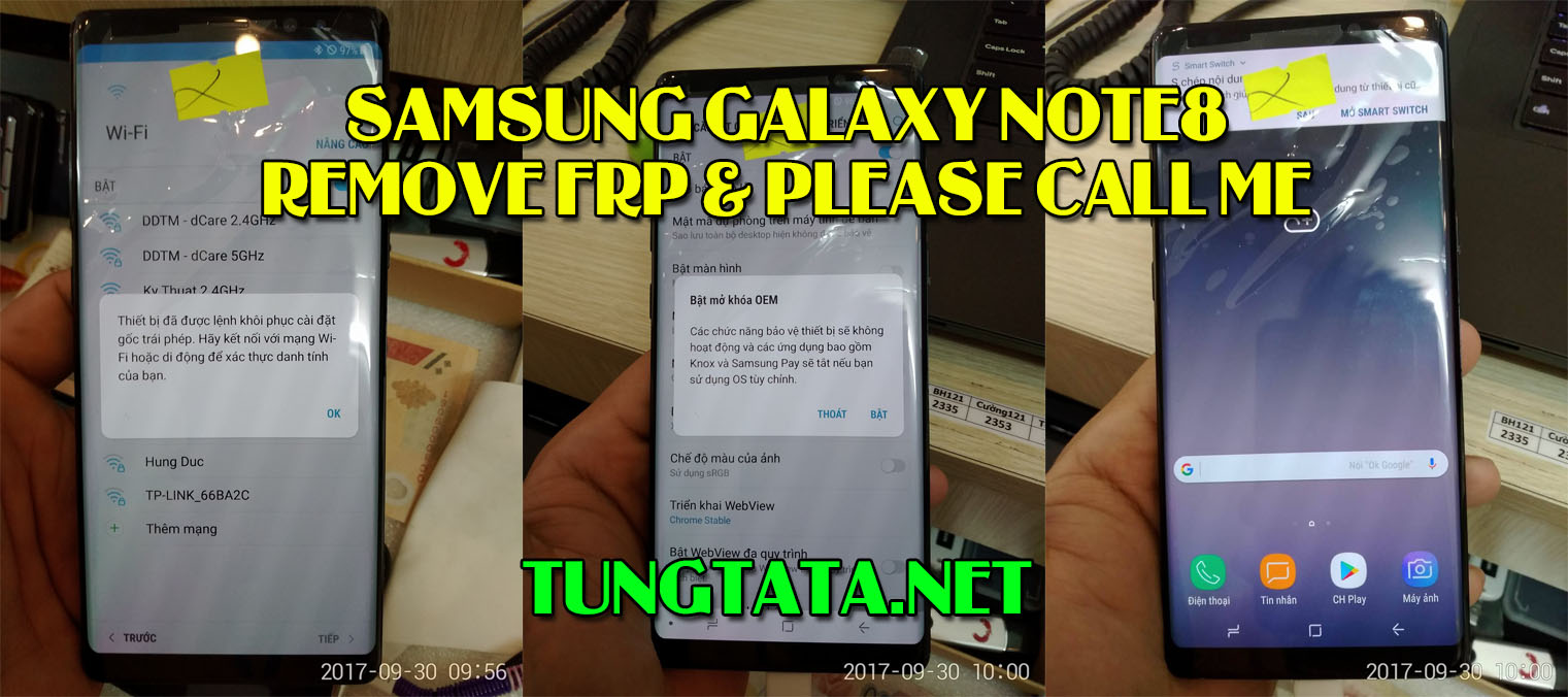 Samsung Galaxy Note 8 N950N N950F N950U Remove FRP Please call me, fix DRK OEM ON FRP ON