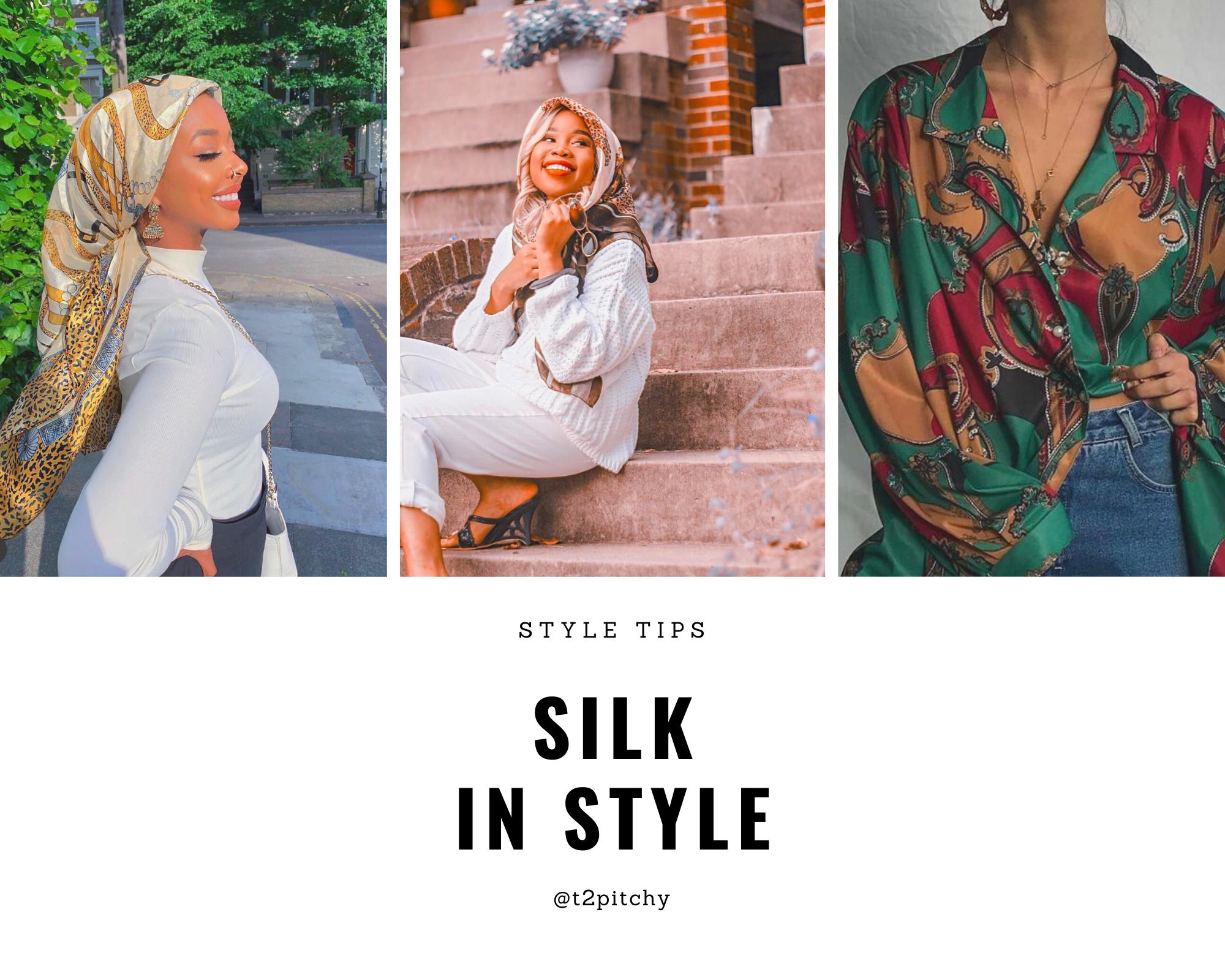 Black women in silk