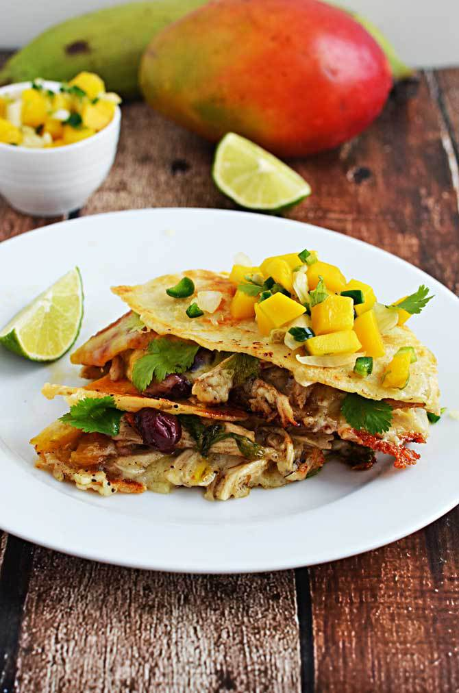 Jamaican jerk chicken quesadillas for Cinco de Mayo