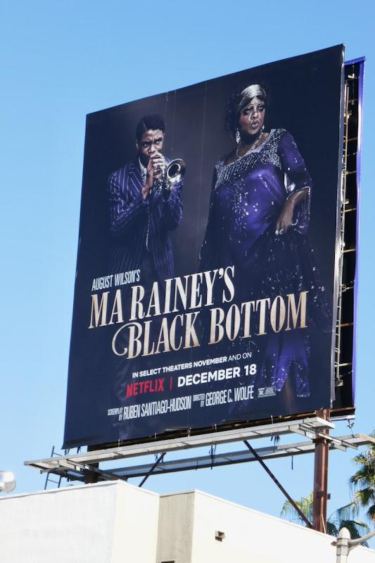 Ma Raineys Black Bottom film billboard