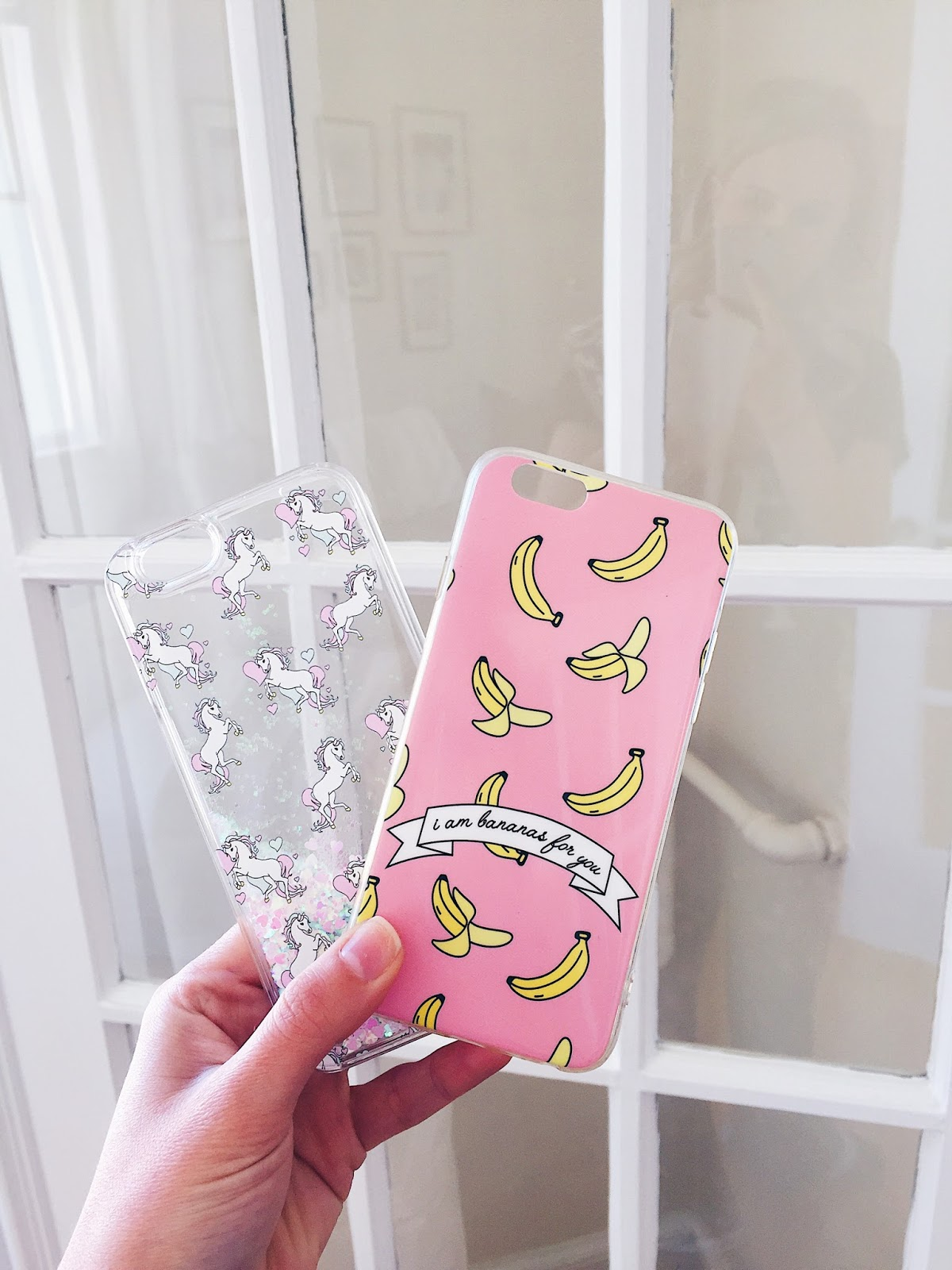 unicorn and banana iphone cases