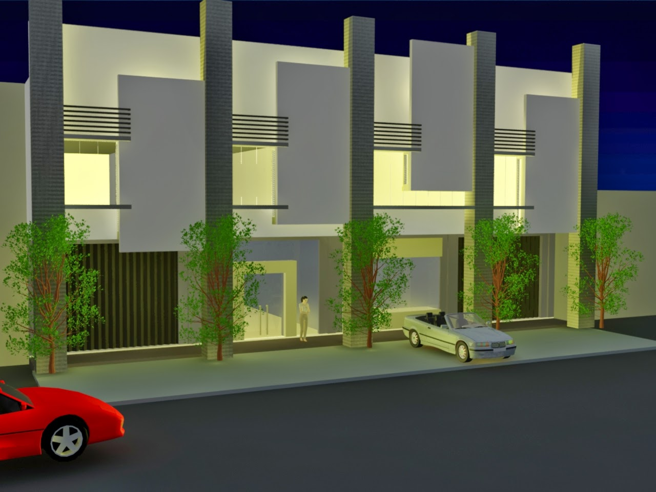 model desain kios minimalis modern terbaru
