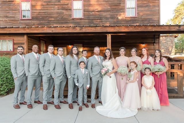 Shenandoah Mill in Gilbert AZ Wedding Photo of the wedding bridal party by Micah Carling Photography