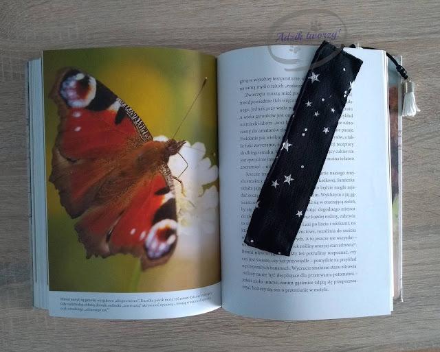 Adzik tworzy - zakładka do książki DIY szycie z resztek